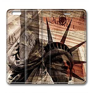 JHFHGVH Leather Case for iPhone 6 Leather, The American Flag Stylish Durable Leather Case for iPhone 6 Leather