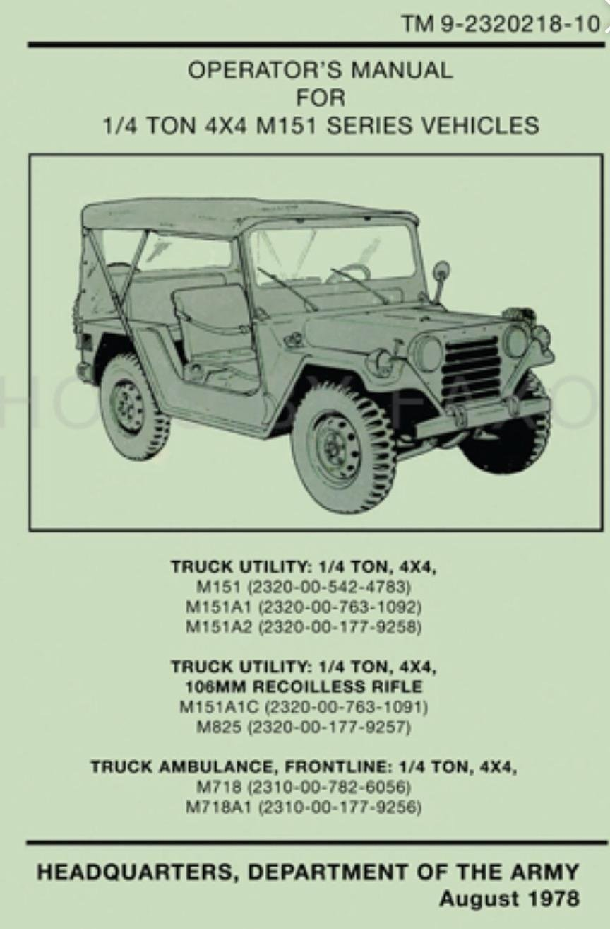 M998 Technical Manual M151a1 Wiring Diagram Us Army Jeep A Parts Automotive 864x1314