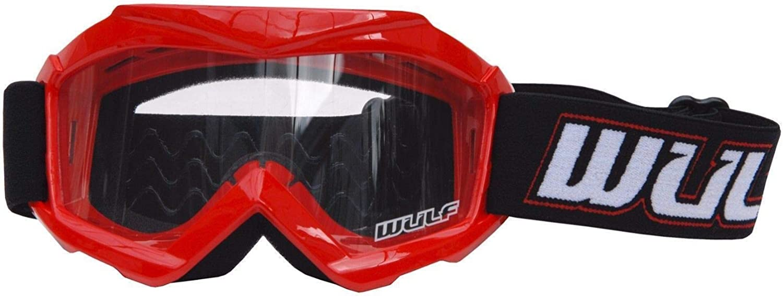 Motocross Schutzbrille Für Kinder Für Motorrad Off Road Atv Bmx Quad Dirtbike Rennsport Schutzbrille Für Kinder Rot Bekleidung