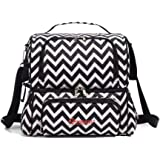 Large Waterproof Insulated Box, Thermal Bag, Premium Lunch Cooler with Shoulder Strap for Women/Men/Adults/Kids