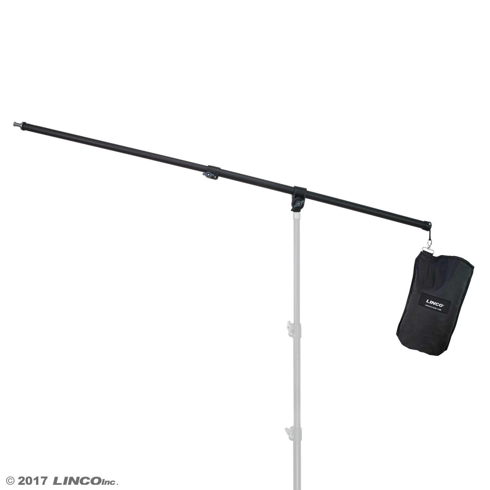 Linco Lincostore 2.5ft to 5ft Adjustable Overhead Light Boom Arm with Universal Tripod Clamp & Counter-Weight Bag 4255K by Linco
