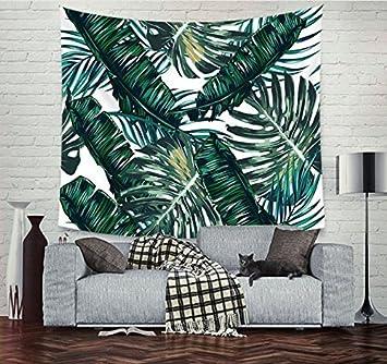 urbeauty selva Tropical patrón de hojas plantas decoración de gamuza de tapiz colgar en la pared