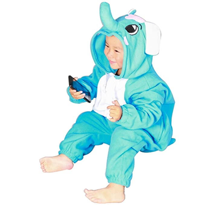 Kids Cute dibujos animados pijamas pijamas Animal Onesie traje Fancy disfraz de cosplay