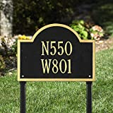 Whitehall Wisconsin Special Custom Address Two Line Lawn Plaque - Customize!