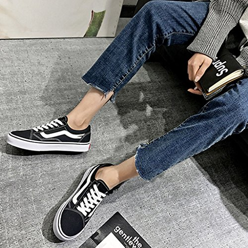 uomo tendenza casuali basse di da Scarpe scarpe 44 tela Scarpe Espadrillas Black Size coreano tela di Color selvagge di Red da YaNanHome stile di passeggio scarpe xzaqwI55v