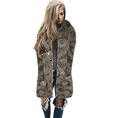 Veste longue camouflage femme