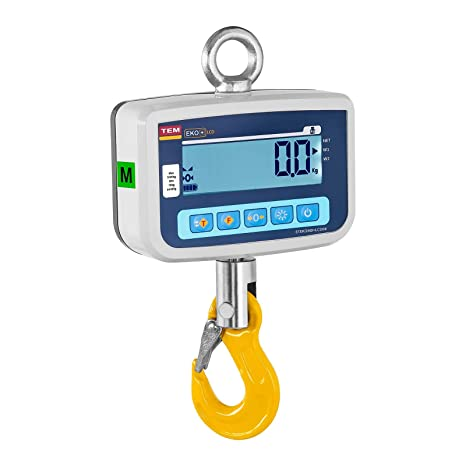 TEM Dinamómetro Báscula Digital CEKO+LCD1000V-BB (10 kg - 1.000 kg,