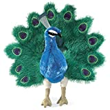 : Folkmanis Peacock Hand Puppet