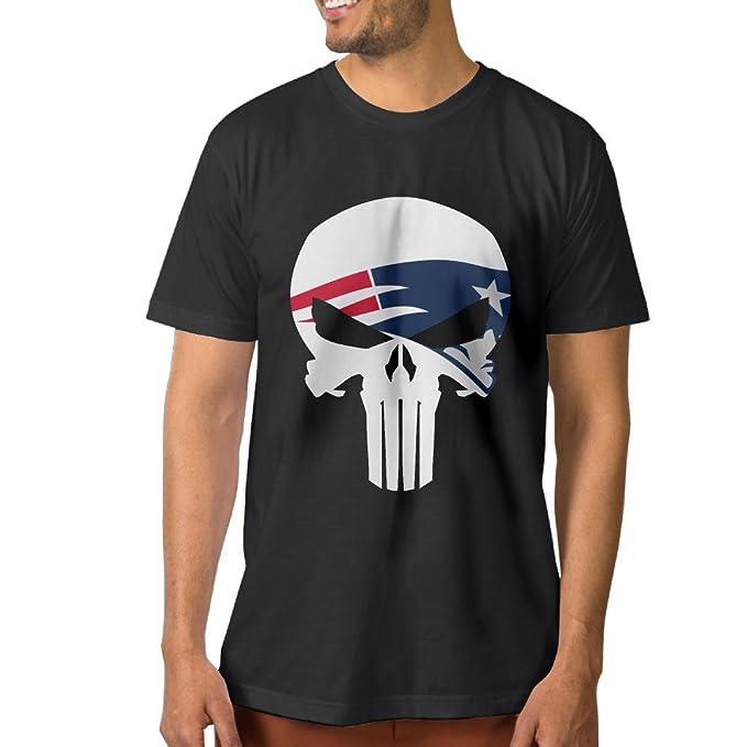 Amazon.com  U9 Men s New England Skull Patriots T Shirt Black  Clothing dd23fd1fb