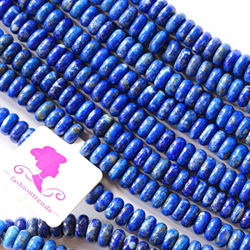 Natural Color Genuine Blue Lapis Lazuli Real Gemstone Loose Beads for Necklace Jewelry Making (rondelle 3*6mm)