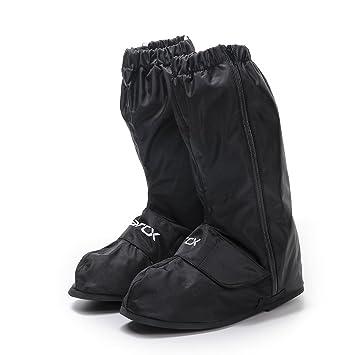 Motocicleta Sobre Botas de Lluvia Impermeables Zapatos Antideslizantes Botas de Lluvia Negras Zapatos de Lluvia al
