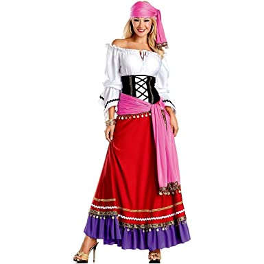 c532bd2f3c Amazon.com  Be Wicked Women s 5 Piece Tempting Gypsy  Clothing