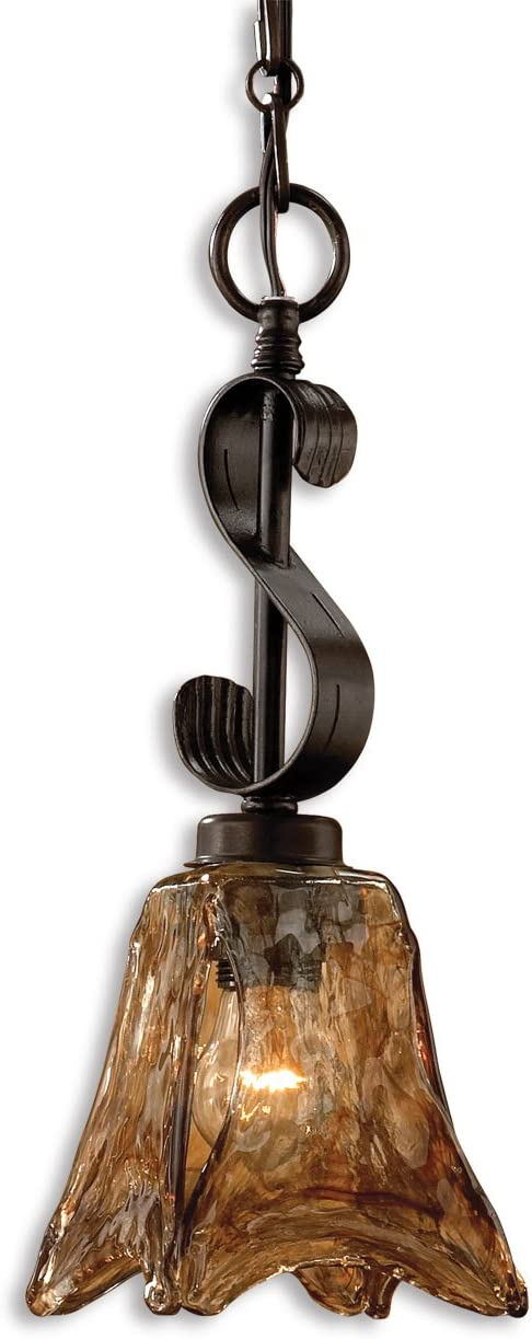 Oil Rubbed Bronze Mini Pendant Down Light from The Vetraio Collection Model-21801