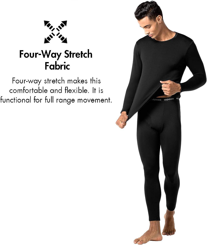 LAPASA Men's Heavyweight Thermal Underwear Long John Set Fleece Lined Base Layer Top and Bottom M24 at  Men's Clothing store