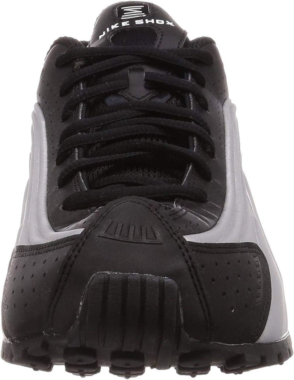 Nike Shox R4 Mens Training Fashion Sneaker 104265-053 Black/Black-metallic Silver