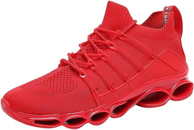 RYTEJFES Zapatilla de Deporte Transpirables Salvajes De Moda para Hombres Zapatillas Deportivas Antideslizantes Zapatillas De Deporte Cojín De Aire Calzado Deportivo Malla Plataforma para Hombre: Amazon.es: Hogar