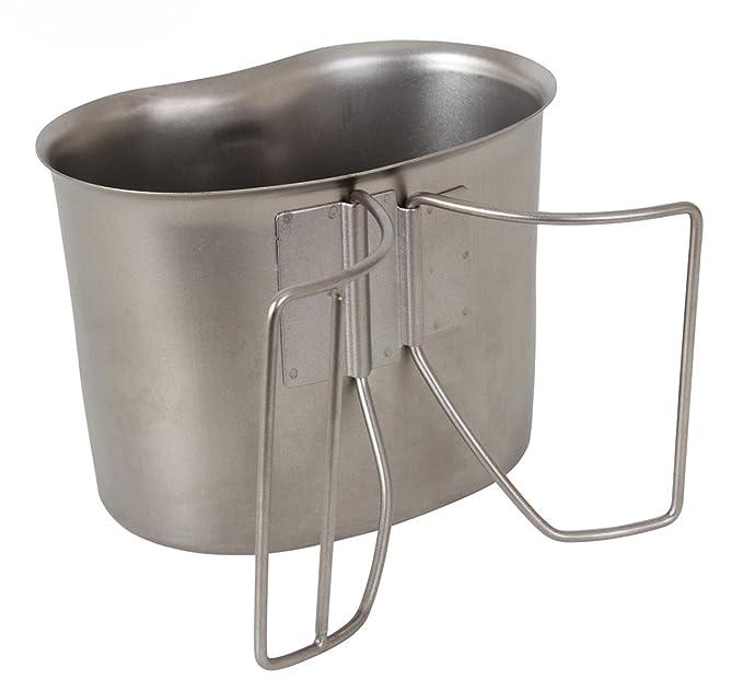 Amazon.com: Copa de cantina estilo G.I. de acero inoxidable ...