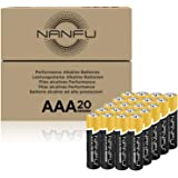 NANFU High Performance AAA Alkaline Batteries (20 Count), Ultra Power, Long Lasting for Household Devices …