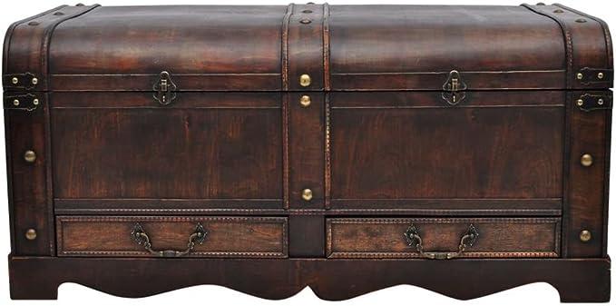 vintage portmanteau or treasure chest ..
