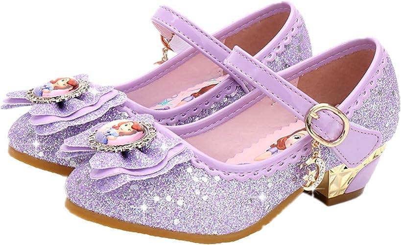 LOBTY Enfant Sandales B/éb/é Chaussure Sandales Scratch Ferm/é Chaussure d/ét/é Ballerine Princesse Paillettes