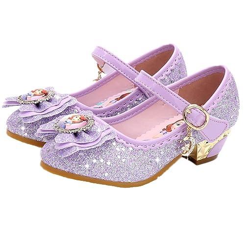 b01cc8b8 YOGLY Sandalias Zapatos de Tango Latino para Niños Vestir Fiesta Princesa  de Tacón Primavera Verano Zapatillas de Baile Cosplay Fiesta Zapatos de  Cristal ...