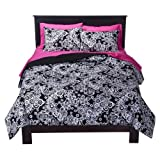 Xhilaration® Damask Comforter Set - Black/White (Twin XL)