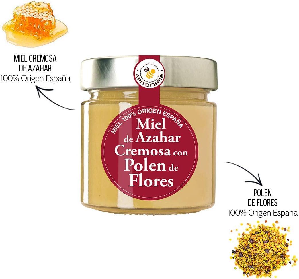 Apiterapia - Miel de Azahar con Polen - Miel Origen España - 300 g: Amazon.es: Alimentación y bebidas