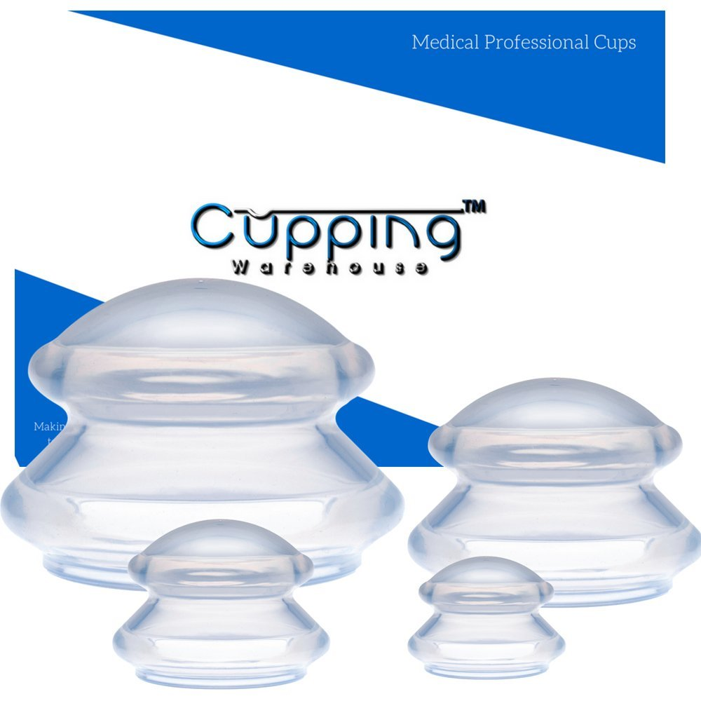 Supreme 4 Online Videos Massage Cupping Professional Medical Silicone Cupping Therapy Set by Cupping Warehouse.Cellulite,Weightloss Shaping,Lymph Drainage, Myofascial Release,Trigger Point, Muscle Spasm