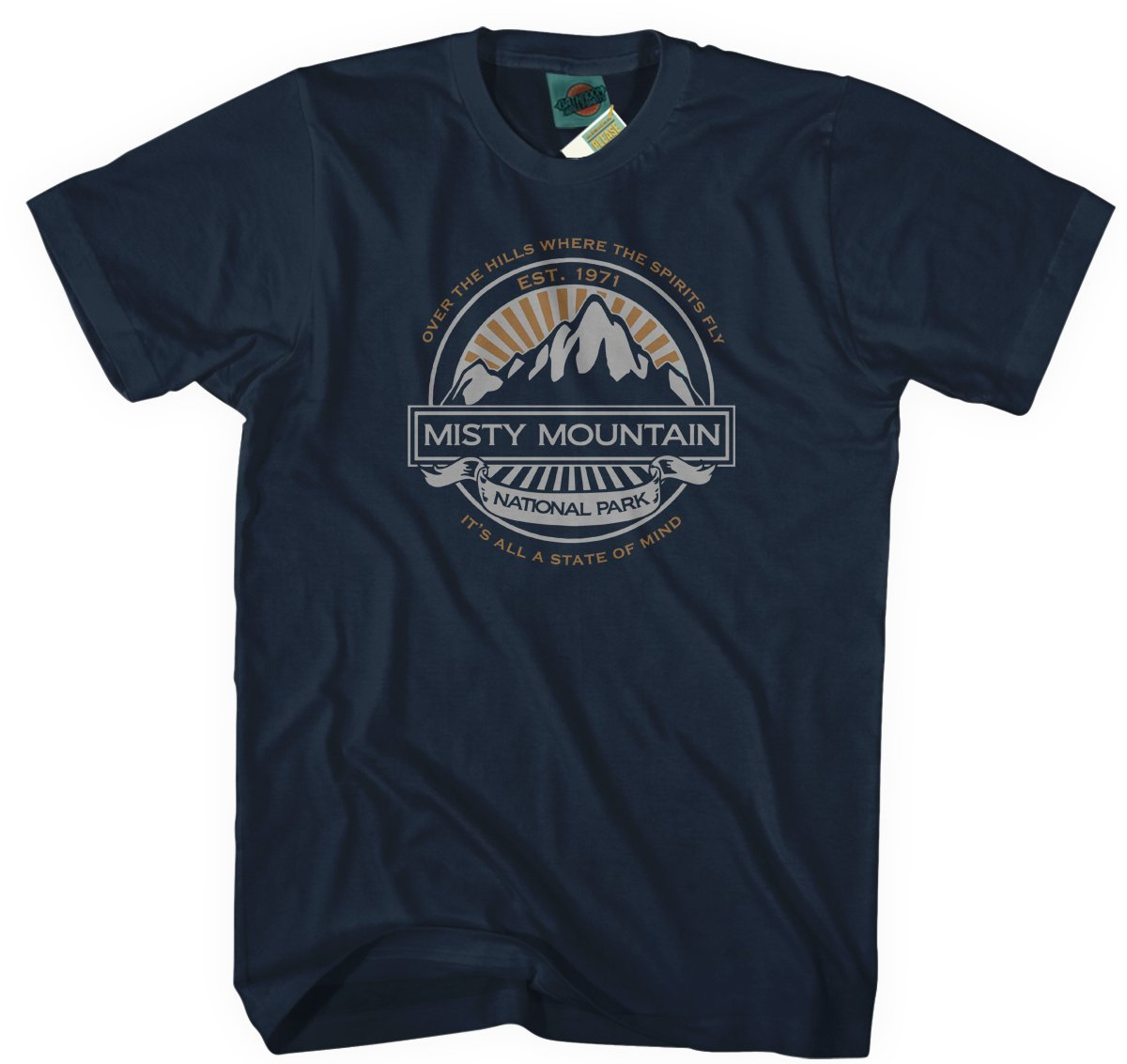 Tshirts Led Zeppelin Misty Mountain Hop Inspired S Tshirt X Navy Blue