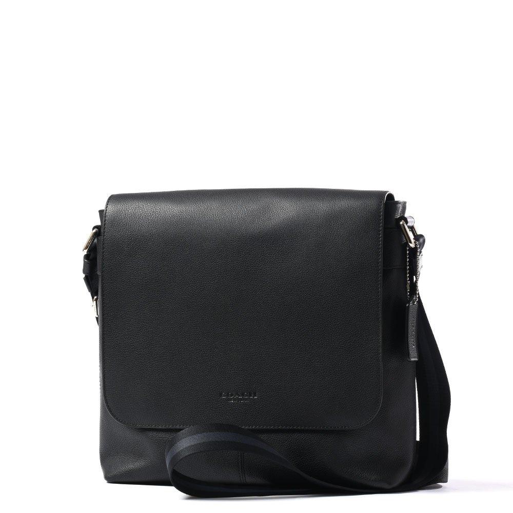 Coach Men's Charles Small Messenger Bag Black Leather