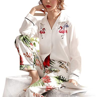 1d841ecfc9 GAESHOW Women s Pjs Set Long Sleeve Pajamas Set Button-Down Sleepwear  Cotton Two Piece Pj