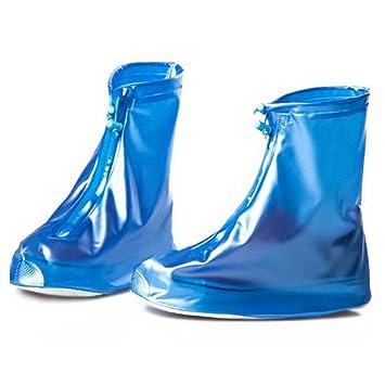 75c65f22e35 Eagsouni® Zapatos Cubiertas Impermeable Lluvia de Zapatos Botas Protectores  Antideslizante Resistente al Desgaste para Mujere Hombre Moto Cicleta y ...