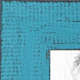 8x12 tabletop frame - ArtToFrames 8x12 inch Weathered Barnwood in Saturated Teal Wood Picture Frame, WOMSM-ECO150-TEA-8x12