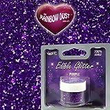 Rainbow Dust Edible Glitter - Purple 5g