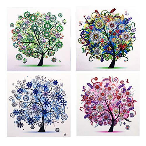 HengQ Diamond Painting for Adult or Kid Diamond Painting Kit 5D DIY Special Shape Diamond Painting Sets,Diamond Painting by Number,Tree Pattern 12