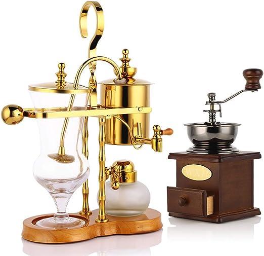 WXH De Belga Coffee Pot Set con Manual Coffee Grinder Familia Real ...