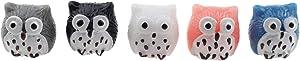 5pcs Resin Mini Owls, Miniature Figurines, Fairy Garden Supplies, Fairy Garden Animals Owl Ornament Dollhouse Plant Pot DIY Decor Home Decoration for Fairy Garden, Micro Landscape