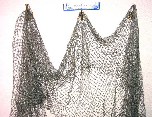 Tikizone Decorative Fish Net, Grey Tan 5 x 10