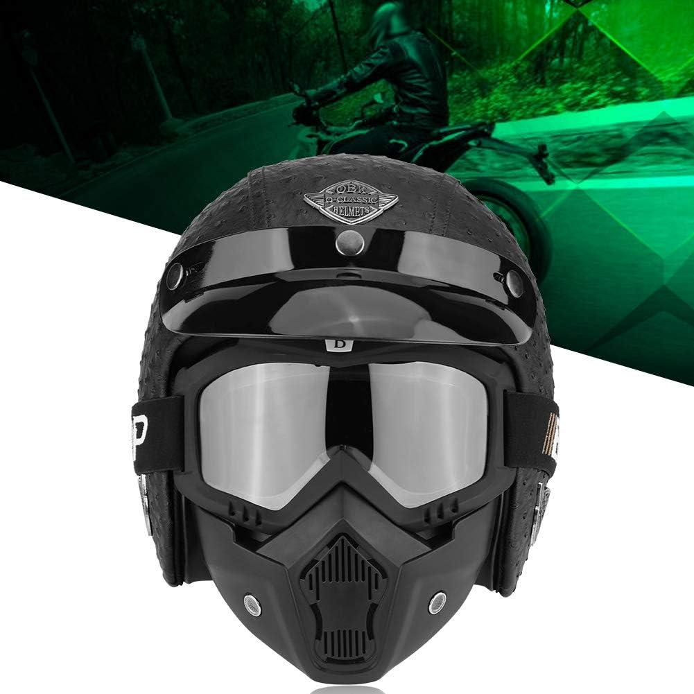 L XL M M 61-62 cm Open Face Helmet mit Abnehmbar Brille Und Maske f/ür die vier Jahreszeiten Kopfumfang 57-58 cm Strau/ßgrau, 57-58 cm optional 59-60 cm Zerone Motorrad Halber Helm