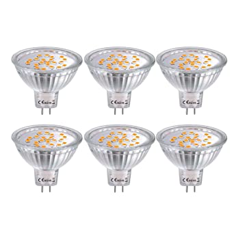 6X MR16 Bombillas LED GU5.3, Bombillas LED Foco 12V 4W, 35W Luz