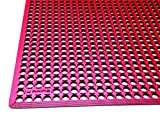 Rhino Mats KCT-3660R K-Series Comfort Tract Anti-Fatigue Drain-Thru Mat 3' x 5', 0.5'' Height, 36'' Width, Red