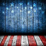 5x7ft Vinyl Digital Patriotic July 4 US National Stars and Stripes Flag Independence Day Photography Studio Backdrop Prop Background
