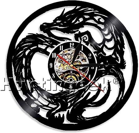 Chic reloj de pared dragón tatuaje tribal dragón de la Mazmorra ...
