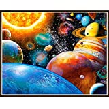 5D Diamond Painting Kit, Full Drill Space Stars Crystal DIY Embroidery Cross Stitch Arts Craft for Canvas Wall Decor