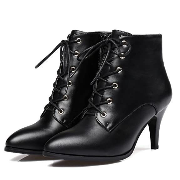 235ef78321 RAZAMAZA Women Fashion Dress Boots Thin Heel Booties Zipper: Amazon.co.uk:  Shoes & Bags