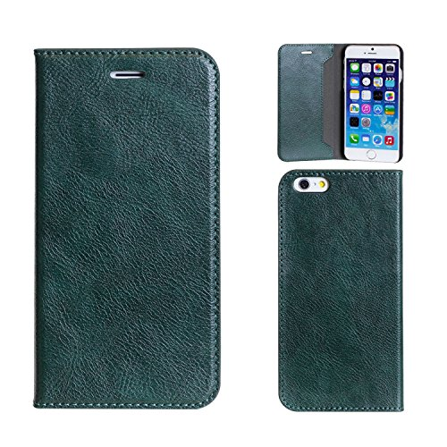 Magnetic Clip Type Diary Case for iPhone 6 (Green)