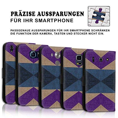 Wallet Book Style Flip Handy Tasche Case Schutz Hülle Schale Motiv Etui für Apple iPhone 4 / 4S - Design Flip MV246