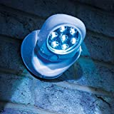 JML Sensor Bright Motion Activated LED Light Cordless Wireless PIR Security Indoor Outdoor Garden Wall Flood Weather Resistant Night Lamp White Bild 3