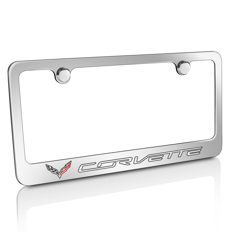 Chevrolet Corvette C7 Billet-Aluminium poliert Nummernschild Rahmen ...