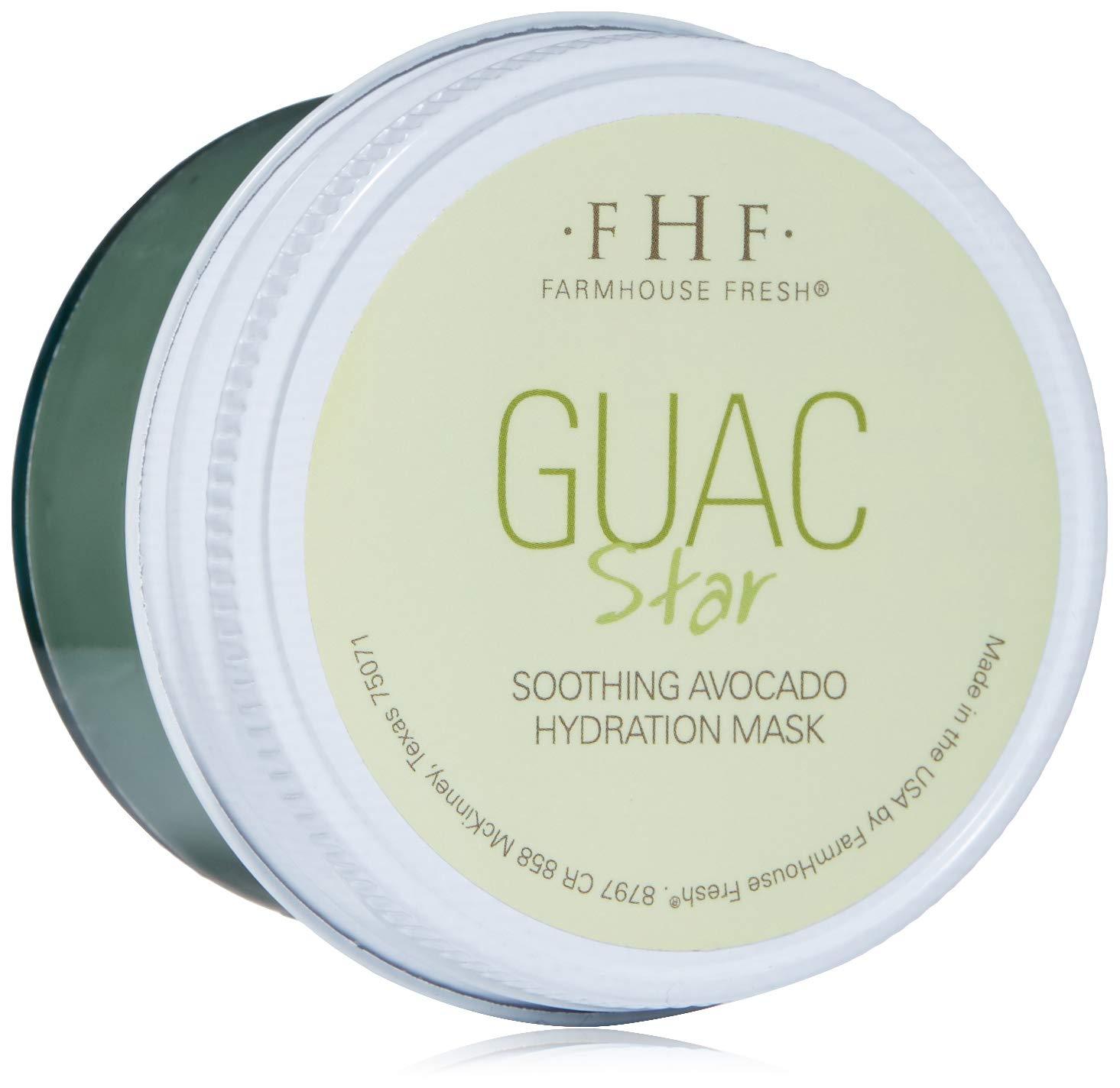 FarmHouse Fresh Guac Star Soothing Avocado Hydration Mask, 3.2 Fl Oz